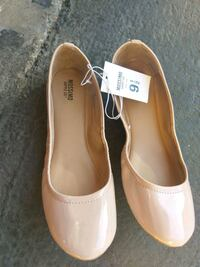 pair of brown leather pointed-toe flats Santa Clara, 95050