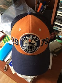 Blue and orange Edmonton Oilers 1979 fitted cap Edmonton, T6M 1Y2