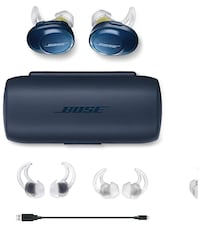 Bose  [TL_HIDDEN]  SoundSport Free Truly Wireless Sport Headphones, Midnight Blue/Citron Toronto, M6B 2C8