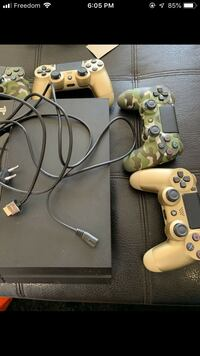 PS4 with controllers  Edmonton, T5G 1V8