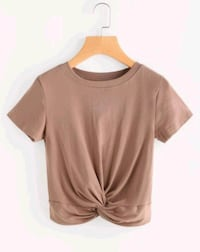 Brand New : women's brown scoop neck crop top  Toronto, M4P 1H4