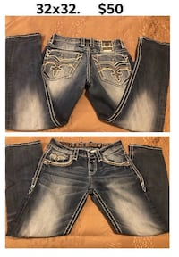 Mens Rock Revival jeans 32x32 Pueblo, 81006