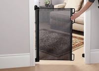 New!! bily retractable safety gate - black