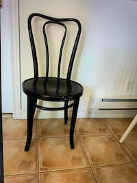 GLOSSY BLACK PAINTED BLACK CLASSIC BENTWOOD CHAIR