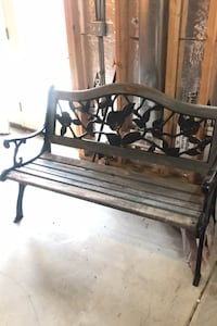 Bench wood and iron weathered