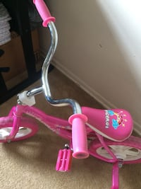 toddler's pink bicycle with training wheels Darien, 60561