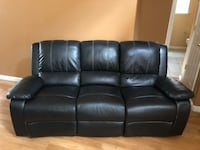 Black leather recliners  Sparks