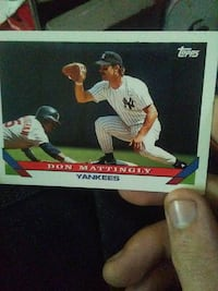 Topps Don Mattingly Yankees trading card Prospect, 38477