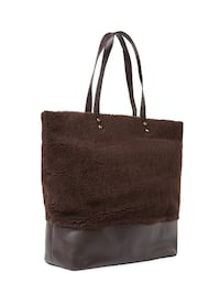 New AUSTRALIA LUXE COLLECTION  BOWERY SHEARLING & LEATHER TOTE