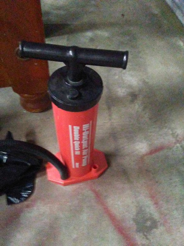 c471b724827 Used red and black manual air pump for sale in Byron - letgo