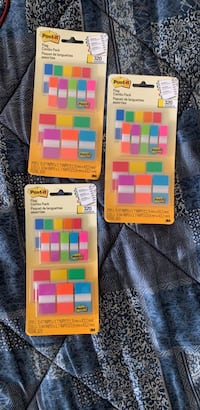 Post it flags. They sell on amazon for 15 dollars a pack but I am selling 3 for 35 Mc Lean, 22102