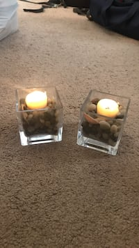 two tealight candle holders