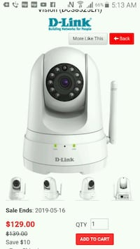 D-link HD cam asking only $60? /new