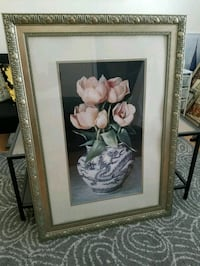 White and pink petaled flowers painting McLean, 22102