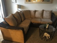 Suede like material sectional couch  Toronto, M3H 5T7