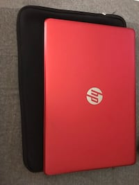 Scarlet red hp laptop with case pad New York, 10472