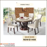 7pc dining table set is now at sale for $1498 Brampton