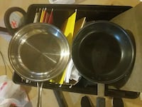 stainless steel and black cooking pans White Plains, 20695