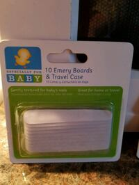 2 packages of baby 10 Emery boards and travel case Toms River, 08753