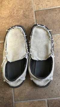Pair of gray-and-black slip on shoes Westminster, 21157