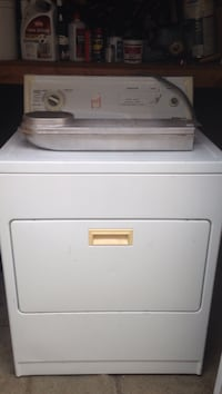White front-load clothes dryer with extra element a $80 value San Jose, 95136