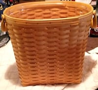 Longaberger large Waste basket W14/H13? Has protector Baltimore