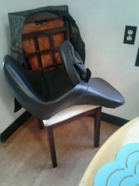 black leather padded rolling armchair Edmonton, T5B 1R5