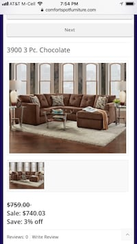 Chocolate Sectional  Mesquite