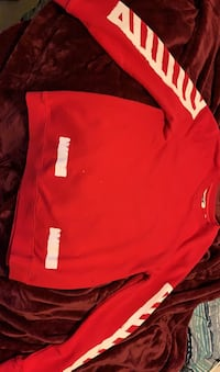 Off white red and white crewneck