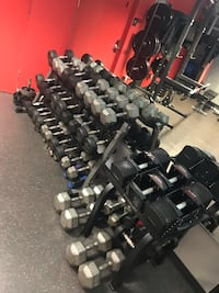 Dumbbell Full Set and DB 3-Tier Rack. Can Deliver in Charlotte Area!! Charlotte, 28208