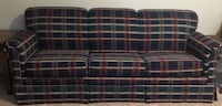 Navy and red plaid sleeper sofa West University Place, 77005