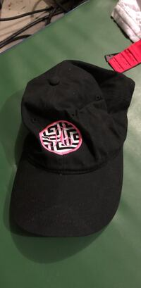 black and pink curved brim cap Conway, 29527