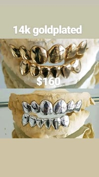 14k gold plated over silver grillz  Temple Terrace, 33617