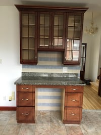 Kitchen wood cabinet and granite counters  Côte-Saint-Luc, H4V 2J1