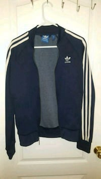 blue navy Adidas zip-up jacket size Small Surrey, V3R 1T8
