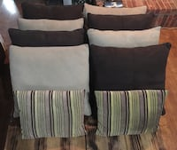 10 Couch Pillows brown and tan  Lavon, 75166
