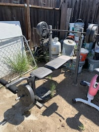 Weight bench with weights included. Taking up space so looking for a new home ;) Cypress, 90630