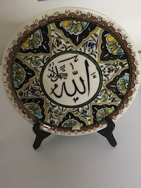 """Ceramic plate can be hang on the wall. Size is 10"""" diameter Ottawa, K2B 5Z9"""