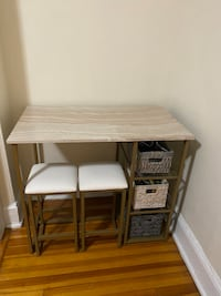 Desk with chairs