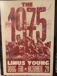 The 1975- framed signed autograph poster from all members of the band. Coquitlam, V3C 5W8