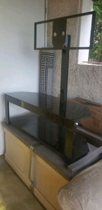 Black Glass TV Stand West Kelowna, V4T 2C1
