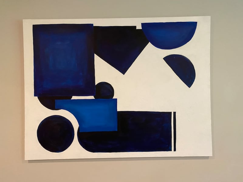 Originial Modern abstract painting (matching pillows included)! 987e61f0-77b0-47b8-9d2a-318550b95a38