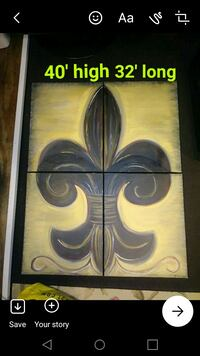 black and brown abstract painting Bay Saint Louis, 39520
