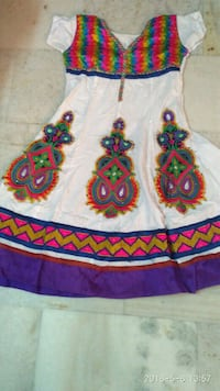 white, red, and green floral textile Madurai, 625001