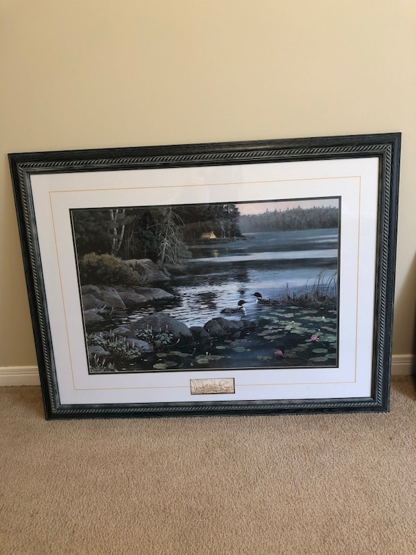 """Loon picture. Approximately 42""""x32"""""""