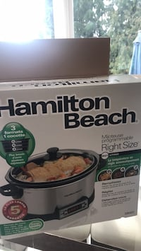 Hamilton Beach slow cooker. Used once! In very good condition Port Moody, V3H 3A1