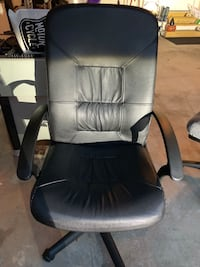 Leather office chair on rolling casters Chantilly, 20151