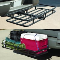 New in box 53x19x4 inches 2 inch receiver mount hitch mount travel luggage basket rack 500 lbs capacity  Whittier, 90604
