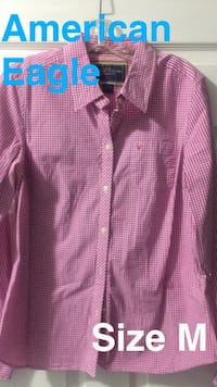 American Eagle  Pink Gingham Rocky Face, 30740