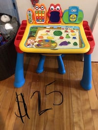toddler's white and red learning table Haverhill, 01830